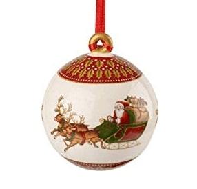 Boule De Noel Vintage Attelage de Noël Vintage – Boule de Noël en Porcelaine – Ma Déco