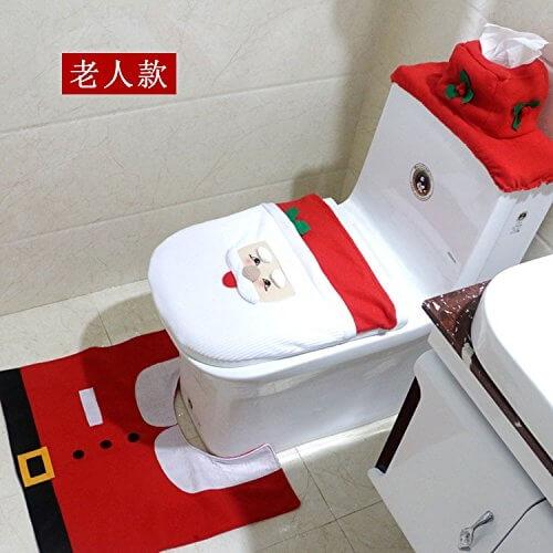 Ensemble pour Toilette Père-Noël - Déco Noël WC